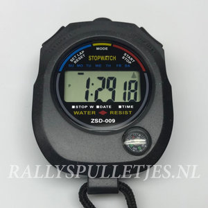Stopwatch digital -mét klein compasje-